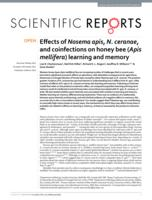 Effects of Nosema apis, N. ceranae, and coinfections on honey bee (Apis mellifera) learning and memory