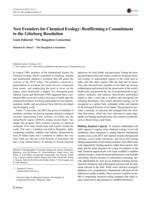 New Frontiers for Chemical Ecology: Reaffirming a Commitment to the Göteborg Resolution