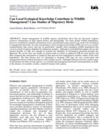 Can Local Ecological Knowledge Contribute to Wildlife Management? Case Studies of Migratory Birds